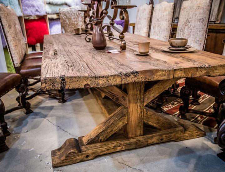 wood-tressle-table